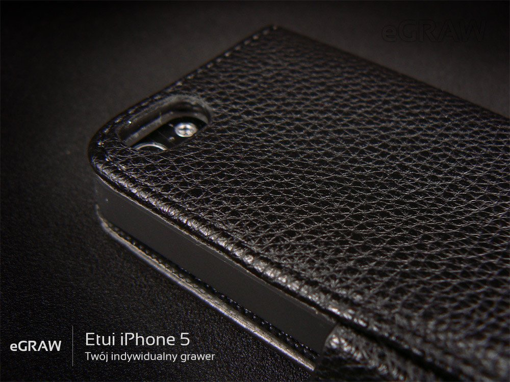 Etui Kabura eko-skóra IPHONE 5 GRAWER