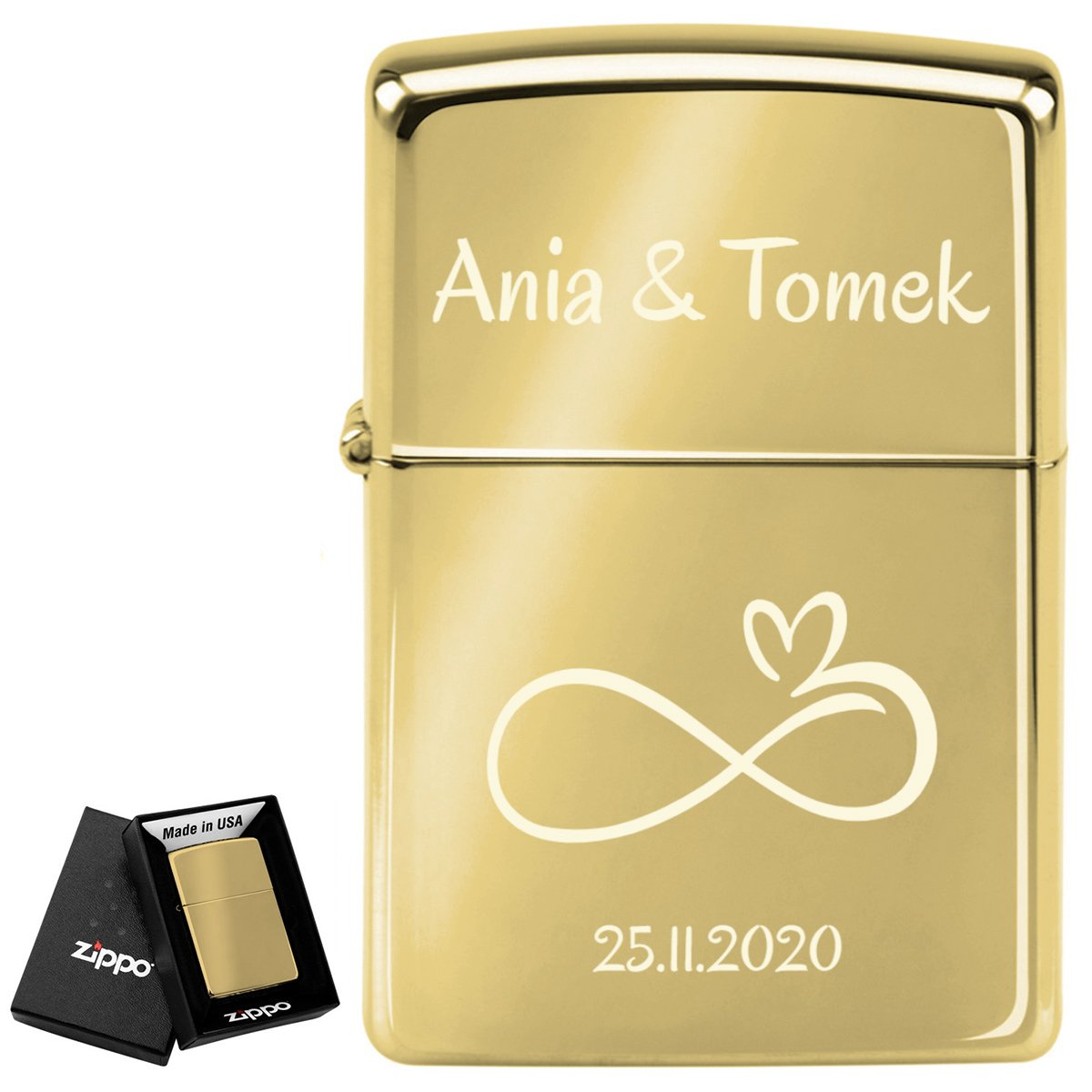 Zapalniczka ZIPPO 254 B High Polish Brass GRAWER